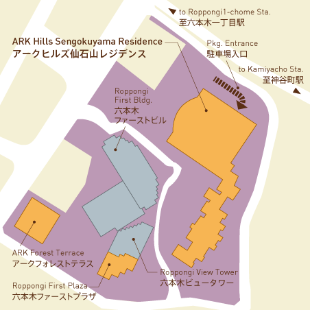アークヒルズ仙石山レジデンス 15階 3LDK 1,425,900円〜1,514,100円の写真27-slider