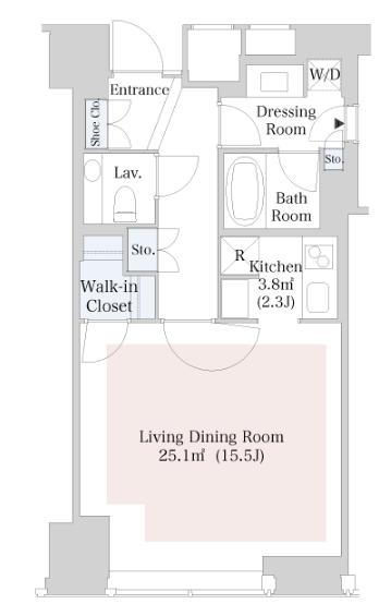 セントラルパークタワー・ラ・トゥール新宿 38階 1R 320,000円の写真1-slider
