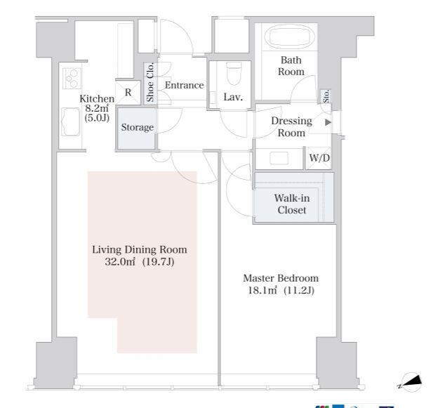 セントラルパークタワー・ラ・トゥール新宿 31階 1LDK 387,030円〜410,970円の写真1-slider