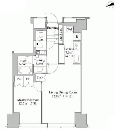 セントラルパークタワー・ラ・トゥール新宿 40階 1LDK 349,000円の写真1-slider