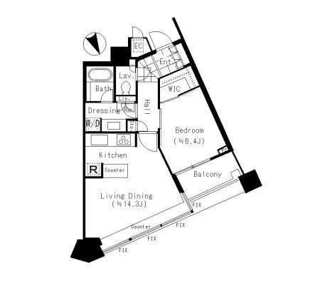 パークコート赤坂ザ・タワー 17階 1LDK 291,000円〜309,000円の写真1-slider