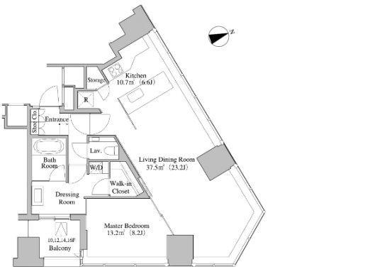 セントラルパークタワー・ラ・トゥール新宿 15階 1LDK 453,960円〜482,040円の写真1-slider