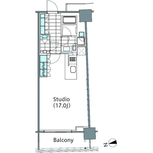コンフォリア新宿イーストサイドタワー 4階 1R 212,430円〜225,570円の写真1-slider