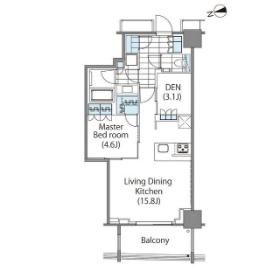 コンフォリア新宿イーストサイドタワー 16階 1LDK 323,980円〜344,020円の写真1-slider