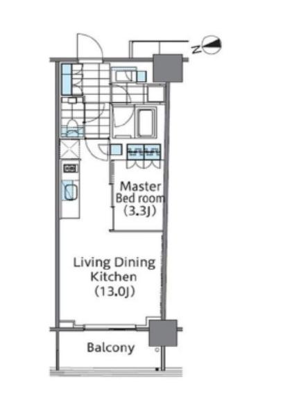 コンフォリア新宿イーストサイドタワー 9階 1LDK 225,040円〜238,960円の写真1-slider