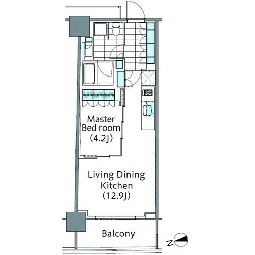 コンフォリア新宿イーストサイドタワー 15階 1LDK 238,620円〜253,380円の写真1-slider