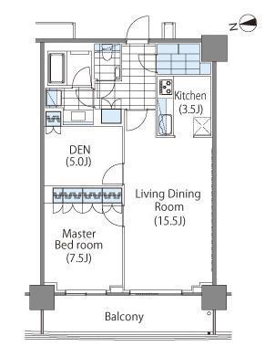 コンフォリア新宿イーストサイドタワー 4階 1LDK 387,000円の写真1-slider