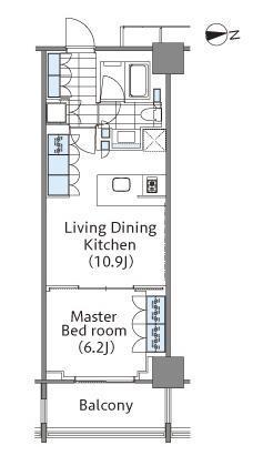 コンフォリア新宿イーストサイドタワー 20階 1LDK 263,000円の写真1-slider