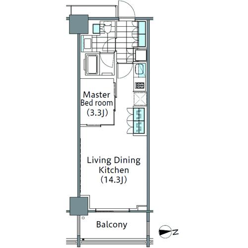 コンフォリア新宿イーストサイドタワー 10階 1LDK 216,310円〜229,690円の写真1-slider