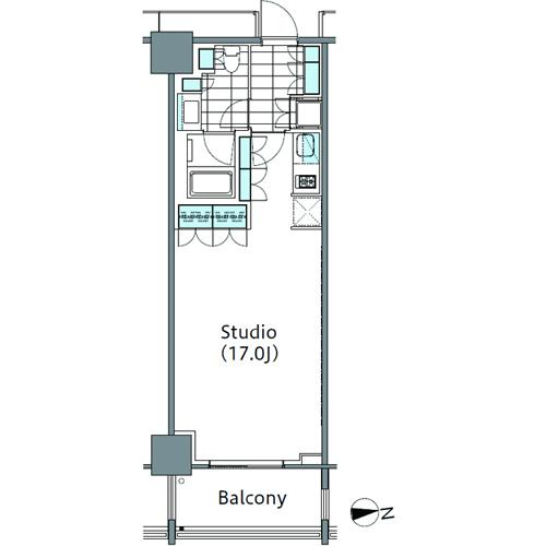 コンフォリア新宿イーストサイドタワー 15階 1R 233,770円〜248,230円の写真1-slider