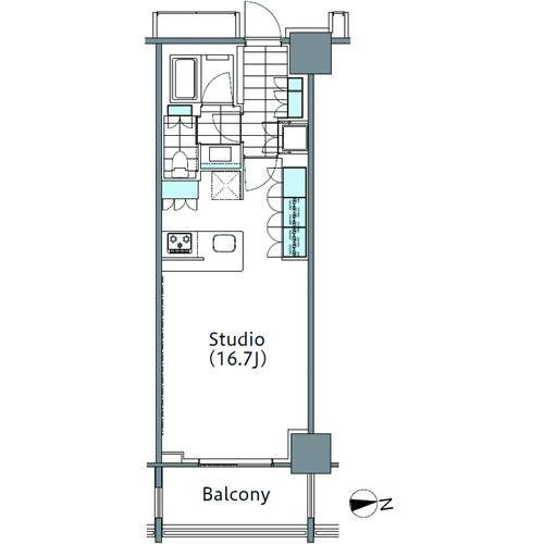 コンフォリア新宿イーストサイドタワー 11階 1R 231,830円〜246,170円の写真1-slider