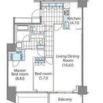 コンフォリア新宿イーストサイドタワー 17階 2LDK 444,260円〜471,740円の写真1-thumbnail