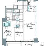 コンフォリア新宿イーストサイドタワー 22階 2LDK 455,900円〜484,100円の写真1-thumbnail