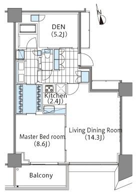 コンフォリア新宿イーストサイドタワー 16階 1LDK 427,000円の写真1-slider