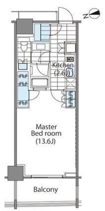 コンフォリア新宿イーストサイドタワー 6階 1K 229,000円の写真1-slider