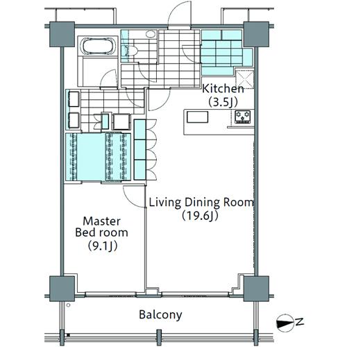 コンフォリア新宿イーストサイドタワー 29階 1LDK 452,000円の写真2-slider