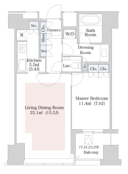 セントラルパークタワー・ラ・トゥール新宿 26階 1LDK 344,350円〜365,650円の写真1-slider