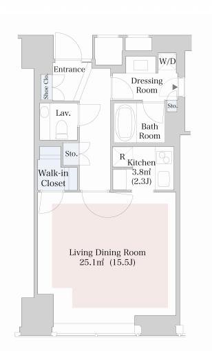 セントラルパークタワー・ラ・トゥール新宿 36階 1R 318,000円の写真1-slider