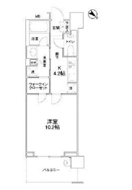クロスエアタワー 13階 1K 175,000円の写真1-slider