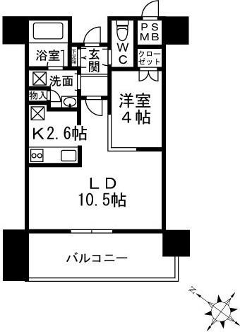 ザ六本木東京クラブレジデンス 12階 1LDK 275,000円の写真1-slider