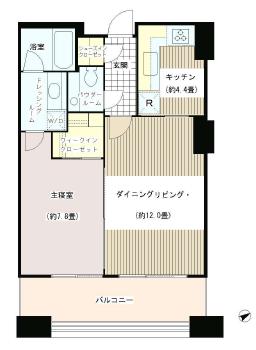 虎ノ門タワーズレジデンス 11階 1LDK 283,000円の写真1-slider