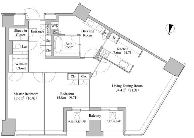 セントラルパークタワー・ラ・トゥール新宿 15階 2LDK 585,000円の写真1-slider