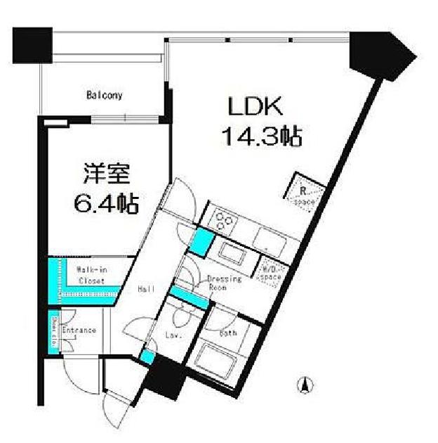 パークコート赤坂ザ・タワー 6階 1LDK 281,300円〜298,700円の写真1-slider