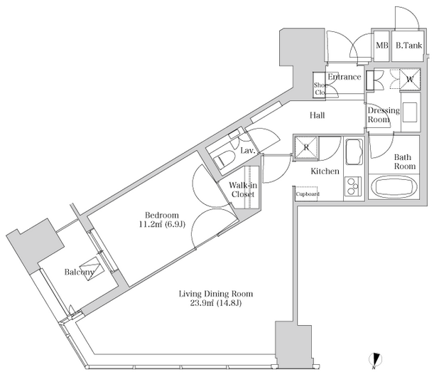 セントラルパークタワー・ラ・トゥール新宿 24階 1LDK 308,460円〜327,540円の写真1-slider
