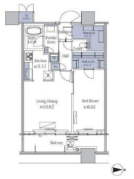 パークタワーグランスカイ 6階 1LDK 250,000円の写真1-slider
