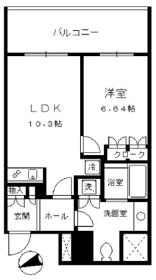 セントラルパークタワー・ラ・トゥール新宿 14階 1LDK 213,400円〜226,600円の写真1-slider
