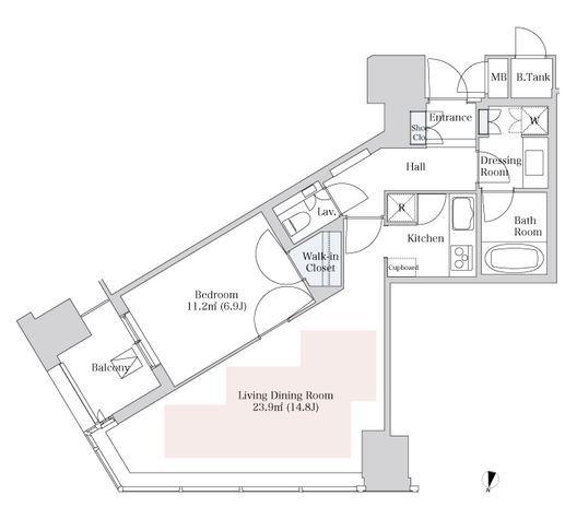 セントラルパークタワー・ラ・トゥール新宿 23階 1LDK 305,550円〜324,450円の写真1-slider