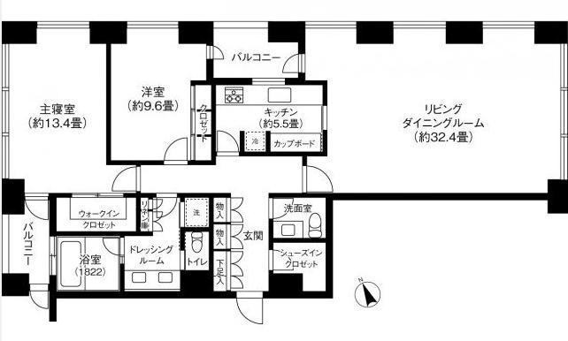 虎ノ門タワーズレジデンス 38階 2LDK 1,261,000円〜1,339,000円の写真1-slider