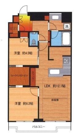 富久クロスコンフォートタワー 22階 2LDK 300,700円〜319,300円の写真1-slider