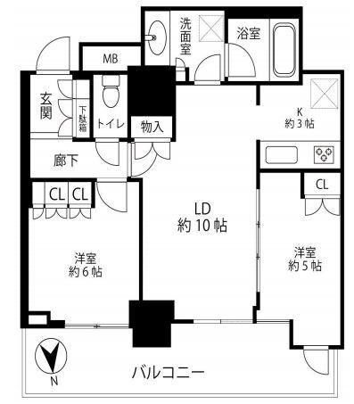 浅草タワー 25階 2LDK 227,950円〜242,050円の写真2-slider