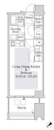 ラ・トゥール新宿ガーデン 37階 1K 270,000円の写真1-slider