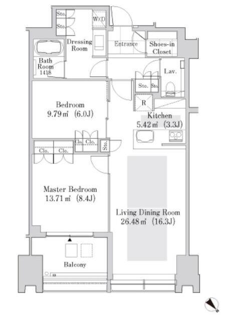 ラ・トゥール新宿ガーデン 27階 2LDK 450,000円の写真1-slider