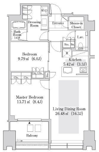 ラ・トゥール新宿ガーデン 35階 2LDK 436,500円〜463,500円の写真1-slider