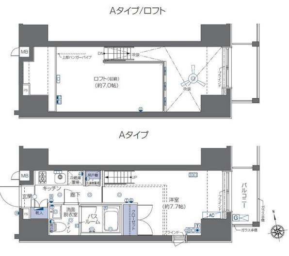 ズーム六本木 5階 1K 155,000円の写真2-slider