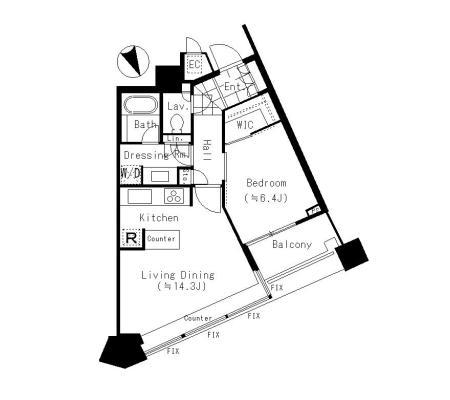 パークコート赤坂ザ・タワー 23階 1LDK 300,700円〜319,300円の写真1-slider
