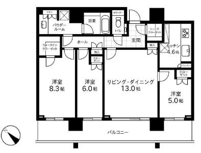 ザ六本木東京クラブレジデンス 27階 3LDK 611,100円〜648,900円の写真1-slider