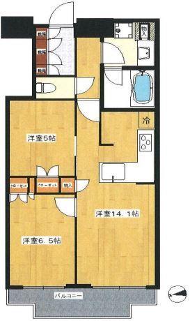 富久クロスコンフォートタワー 25階 2LDK 295,000円の写真1-slider
