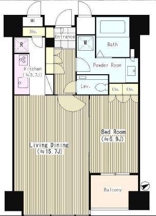 セントラルパークタワー・ラ・トゥール新宿 25階 1LDK 324,950円〜345,050円の写真1-slider