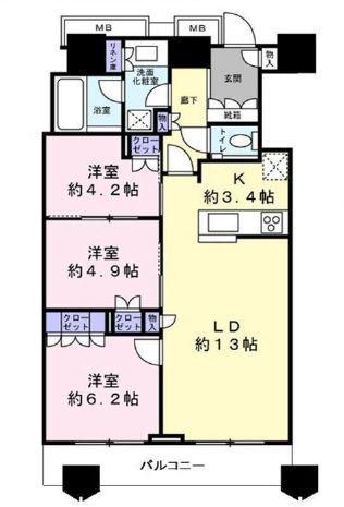 富久クロスコンフォートタワー 42階 3LDK 339,500円〜360,500円の写真2-slider