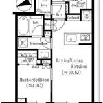 パークシティ中央湊ザ・タワー 18階 1LDK 189,150円〜200,850円の写真1-thumbnail