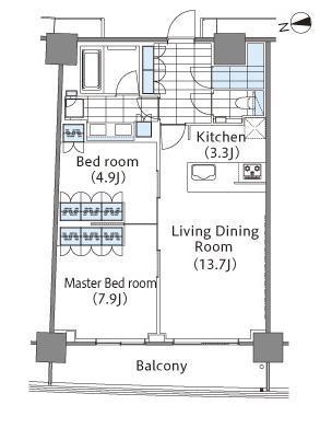 コンフォリア新宿イーストサイドタワー 2階 2LDK 354,000円の写真1-slider