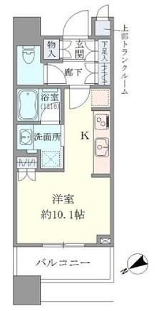 ブリリアタワーズ目黒 S-9階 1R 234,000円の写真1-slider