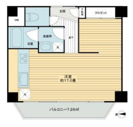 ラ・アトレ御苑内藤町グランガーデン 3階 1R 200,000円の写真1-slider