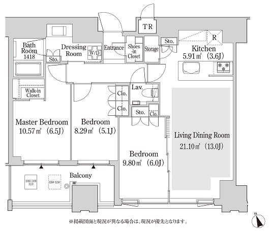 大崎ガーデンレジデンス 12階 3LDK 339,500円〜360,500円の写真1-slider