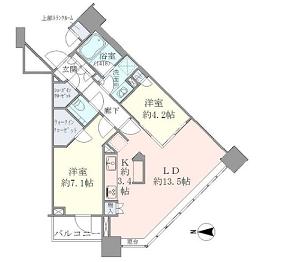 ブリリアタワーズ目黒 N-22階 2LDK 387,030円〜410,970円の写真1-slider
