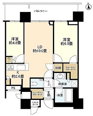 パークシティ中央湊ザ・タワー 32階 2LDK 320,100円〜339,900円の写真1-slider